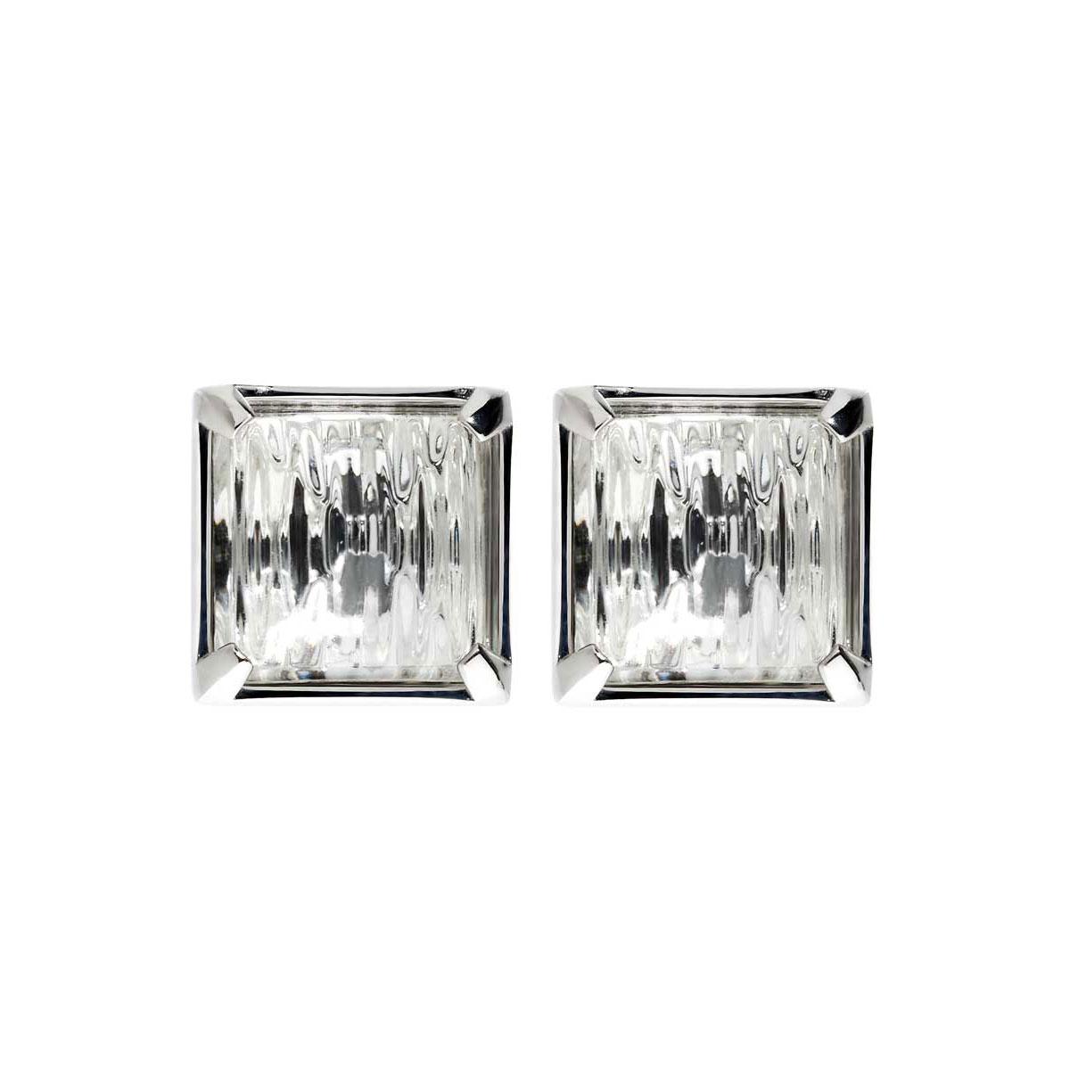 Lalique Crystal Rayonnante Earrings, Clear