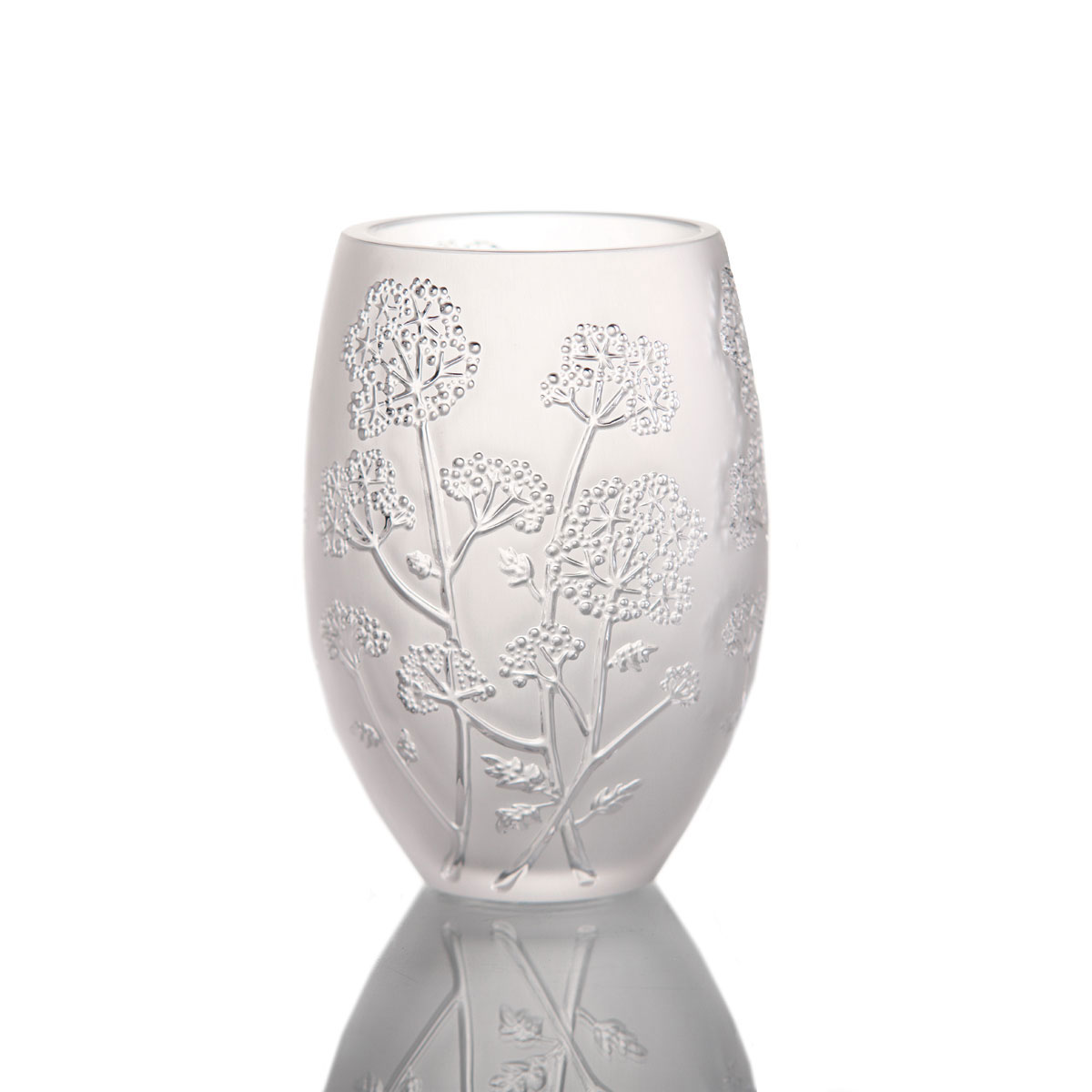 Lalique Crystal, Medium Ombelle Crystal Vase