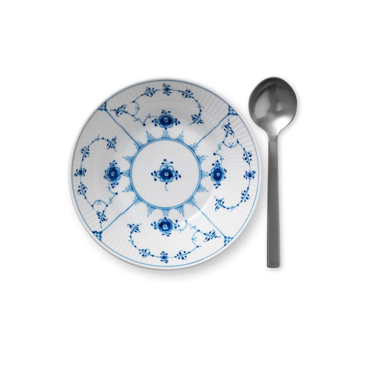 "Royal Copenhagen, Blue Fluted Plain Dessert Bowl 6.75"""
