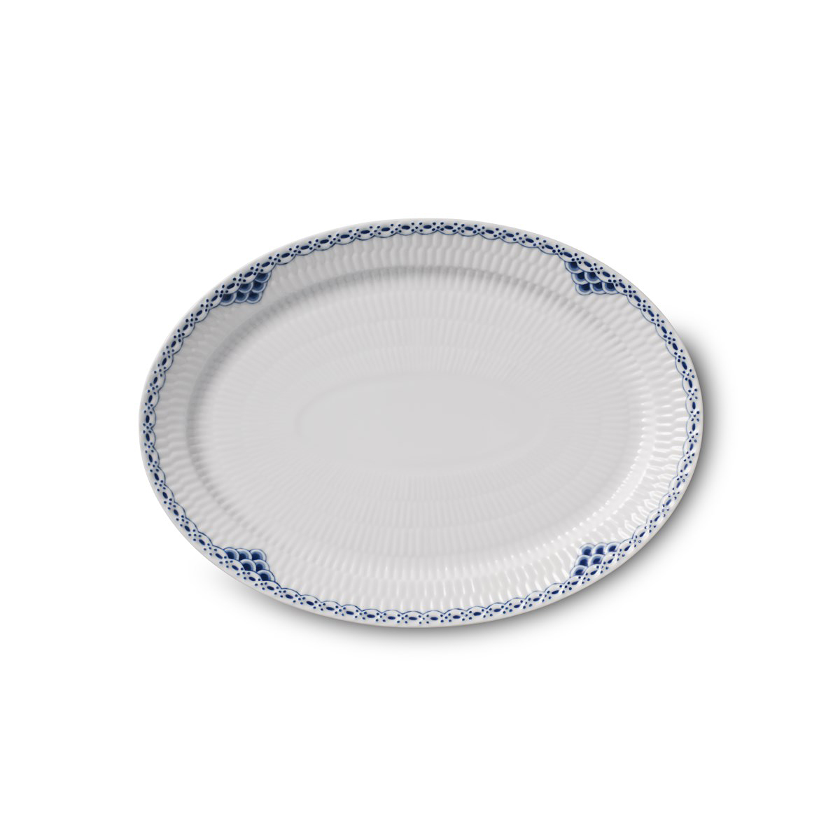 "Royal Copenhagen, Princess Plate Oval 11"""