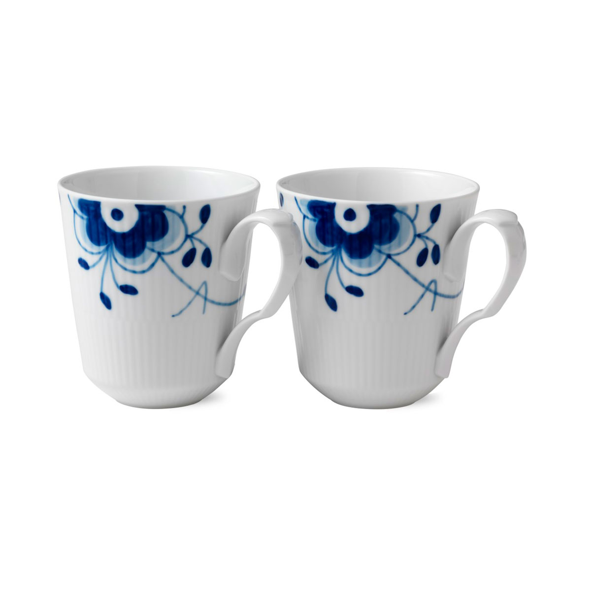 Royal Copenhagen, Blue Fluted Mega Mug 12.25oz. Pair