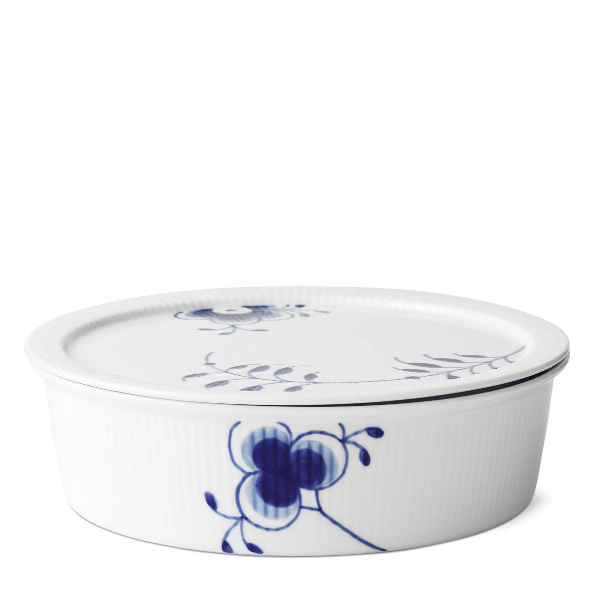 Royal Copenhagen, Blue Fluted Mega Dish With Lid 1.5Qt