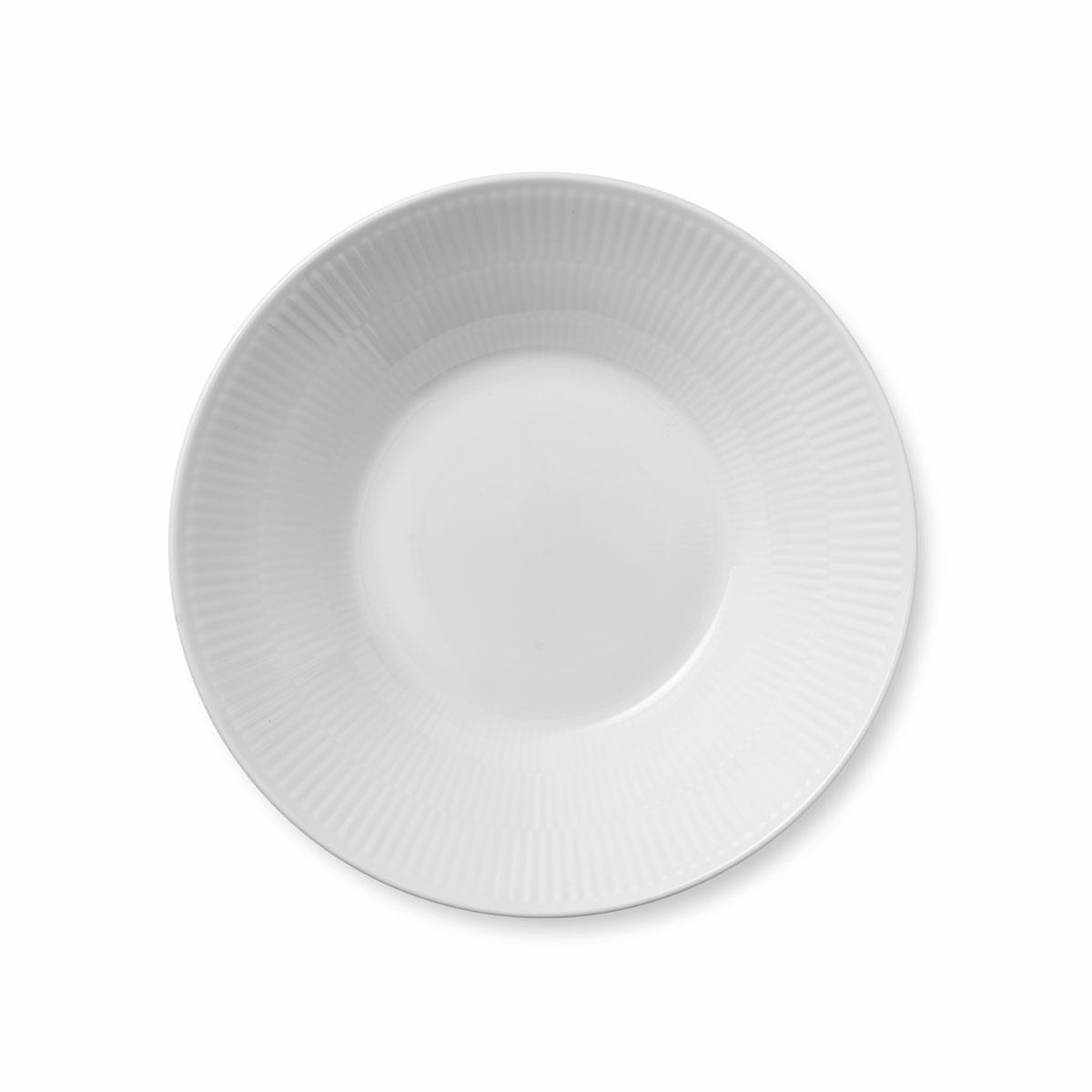 """Royal Copenhagen, White Fluted Pasta Bowl 9.5"""""""