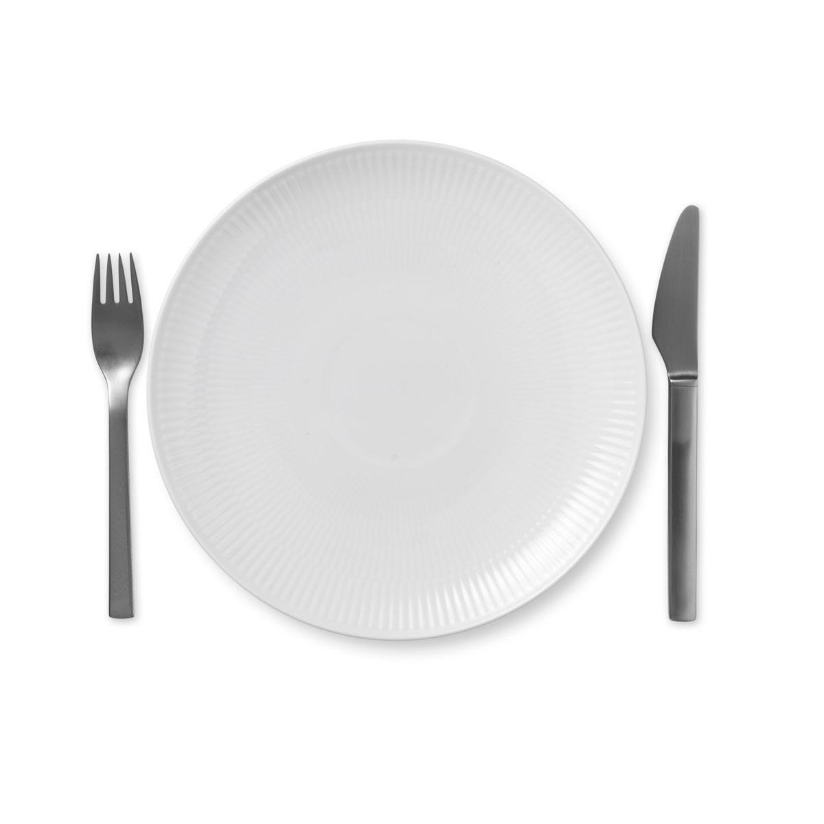 "Royal Copenhagen, White Fluted Salad Plate Coupe 9"""