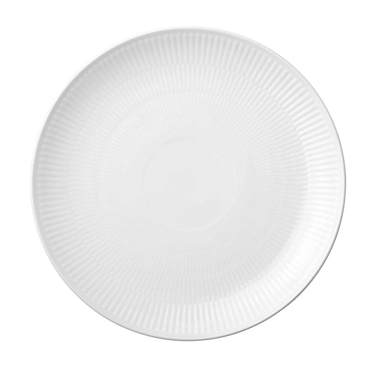 """Royal Copenhagen, White Fluted Dinner Plate Coupe 10.75"""""""