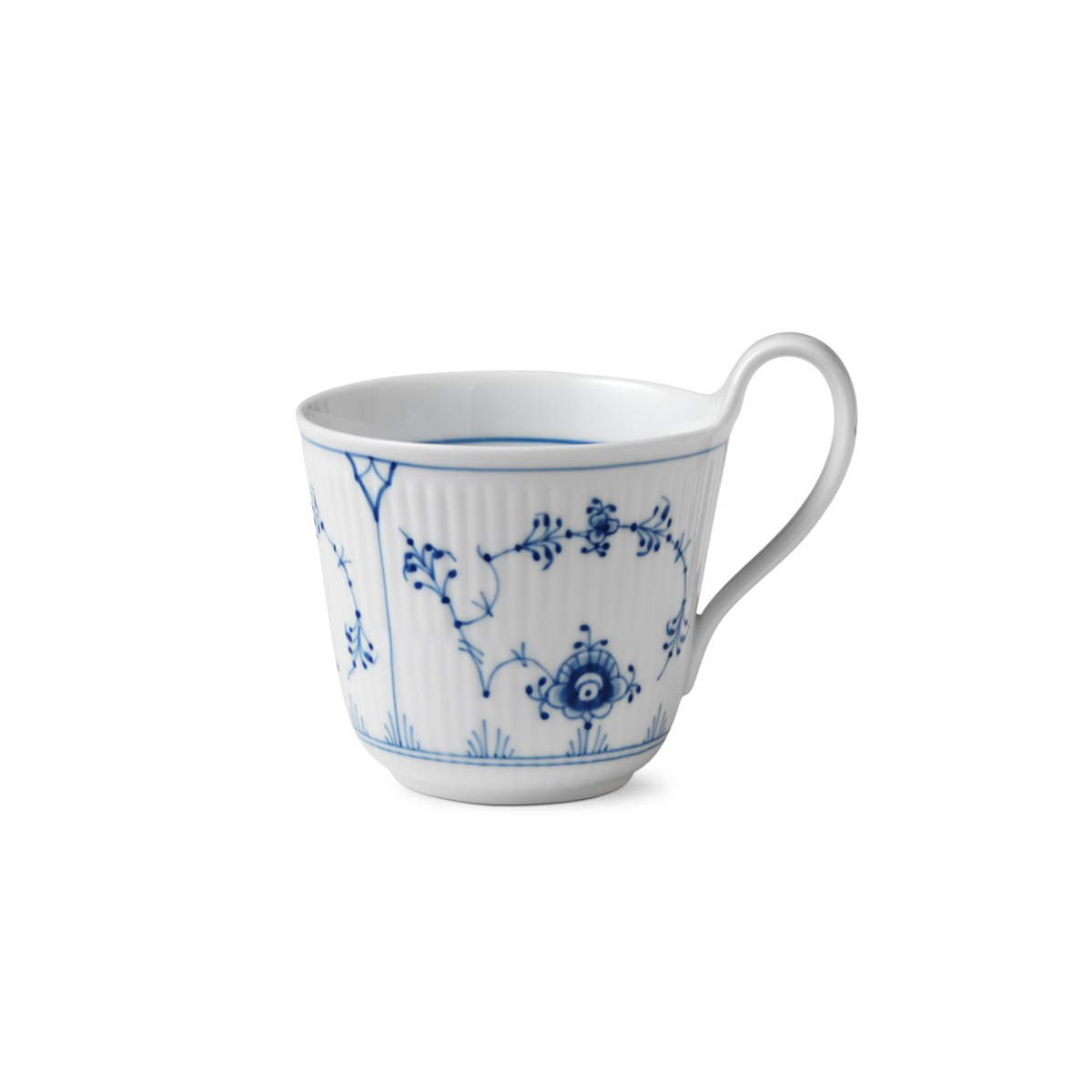 Royal Copenhagen, Blue Fluted Plain High Handle Mug 11oz.
