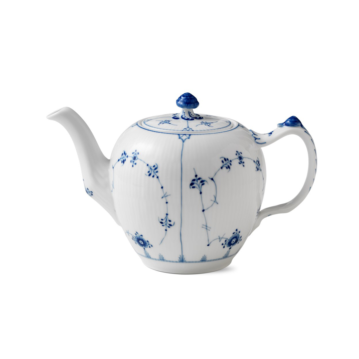 Royal Copenhagen, Blue Fluted Plain Tea Pot 1Qt