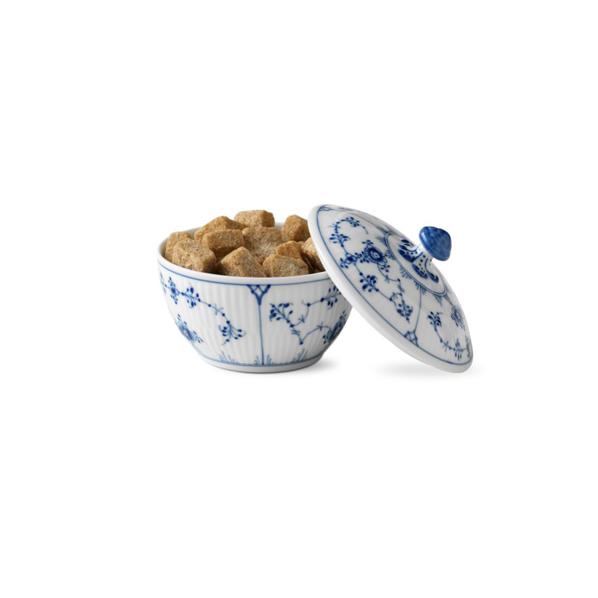 Royal Copenhagen, Blue Fluted Plain Sugar Bowl