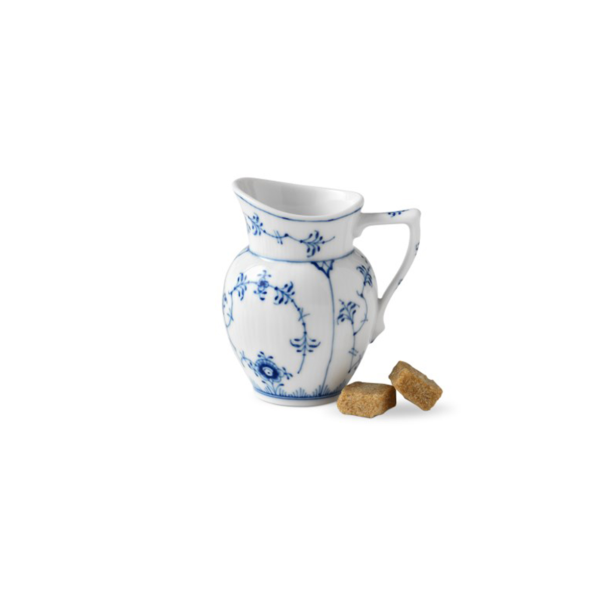 Royal Copenhagen, Blue Fluted Plain Creamer 2.75oz.
