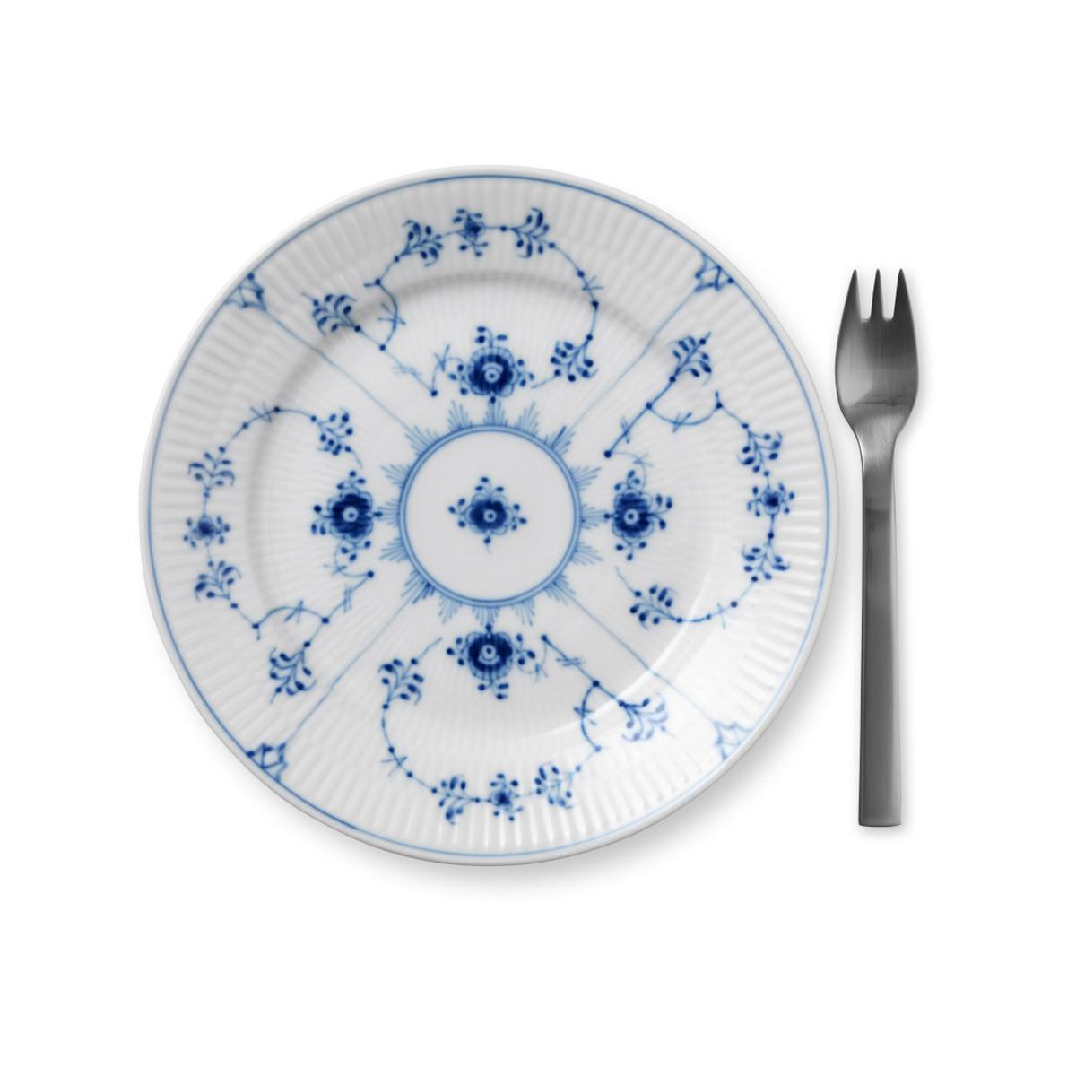 Royal Copenhagen, Blue Fluted Plain Dessert Plate, Single