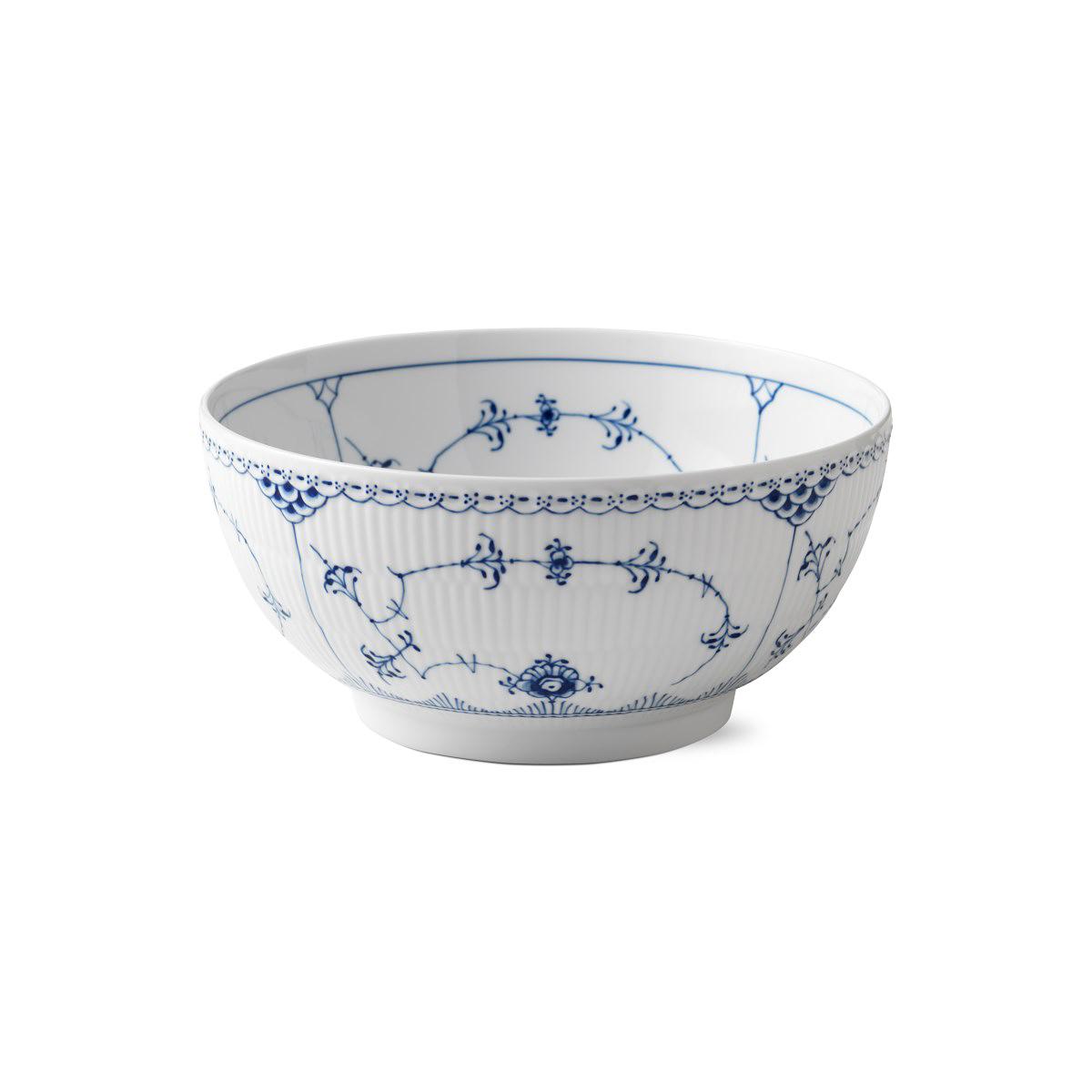 Royal Copenhagen, Blue Fluted Half Lace Bowl 3.25 Qt