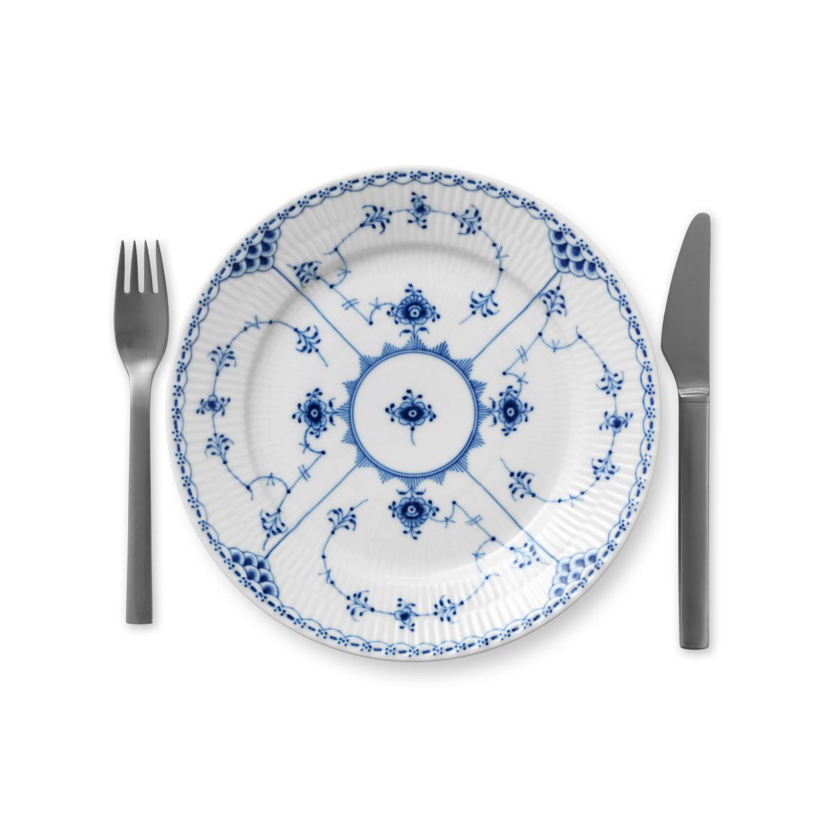 "Royal Copenhagen, Blue Fluted Half Lace Salad Plate 8.75"""