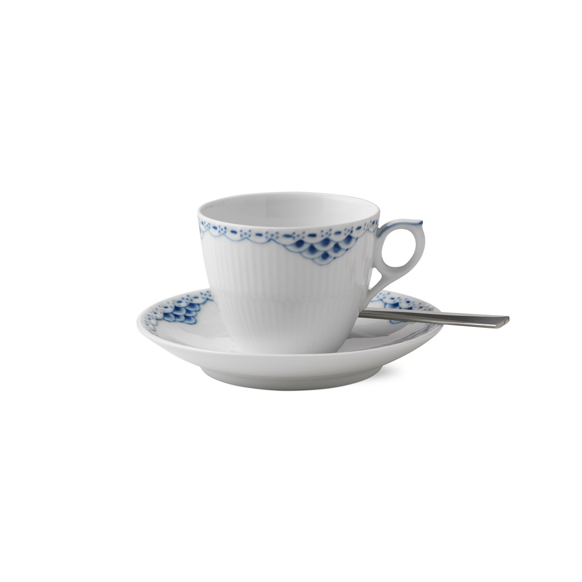Royal Copenhagen, Princess Coffee Cup and Saucer 5.75oz.