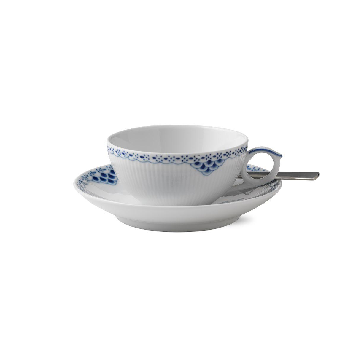 Royal Copenhagen, Princess Tea Cup and Saucer 6.75oz.