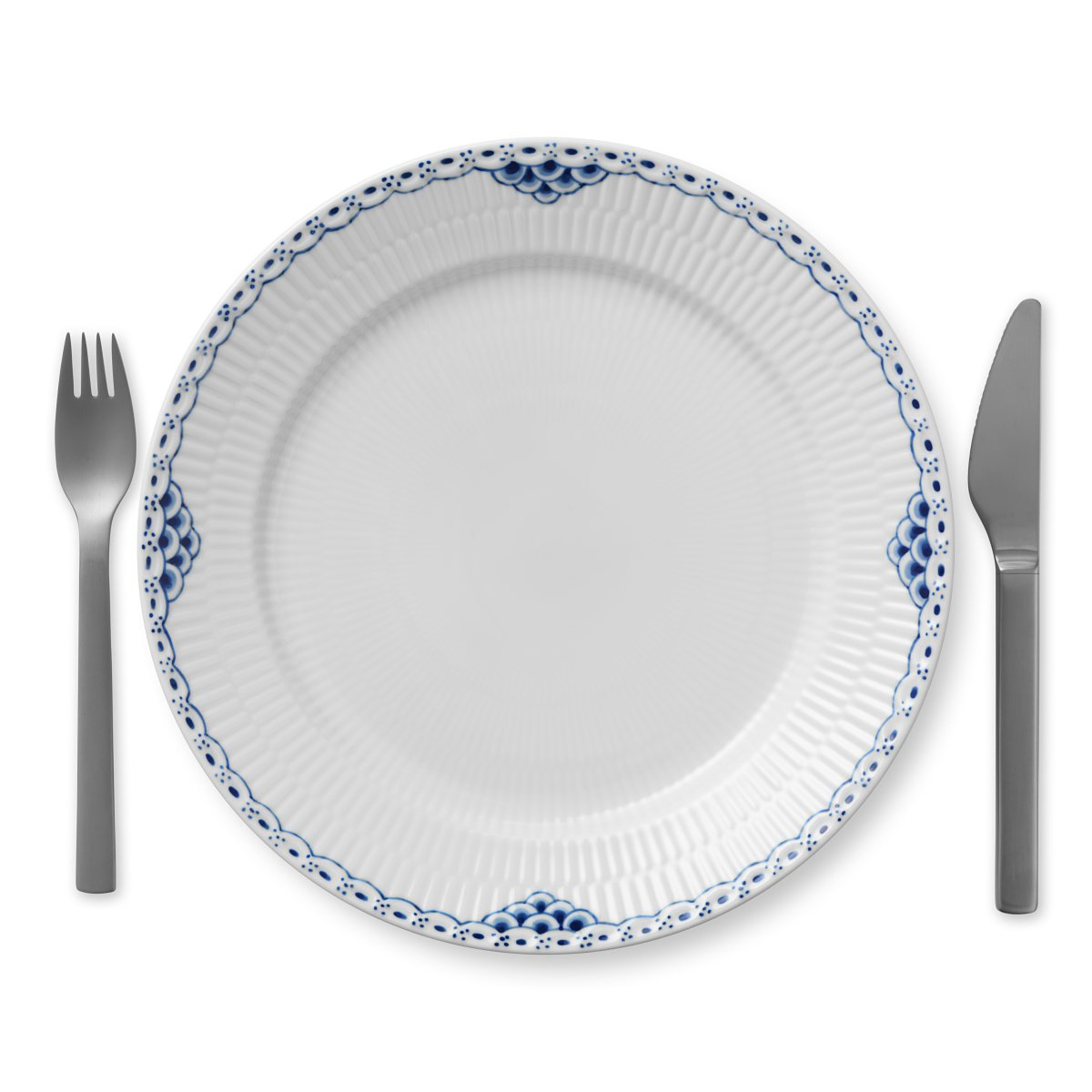 "Royal Copenhagen, Princess Dinner Plate 10.75"""