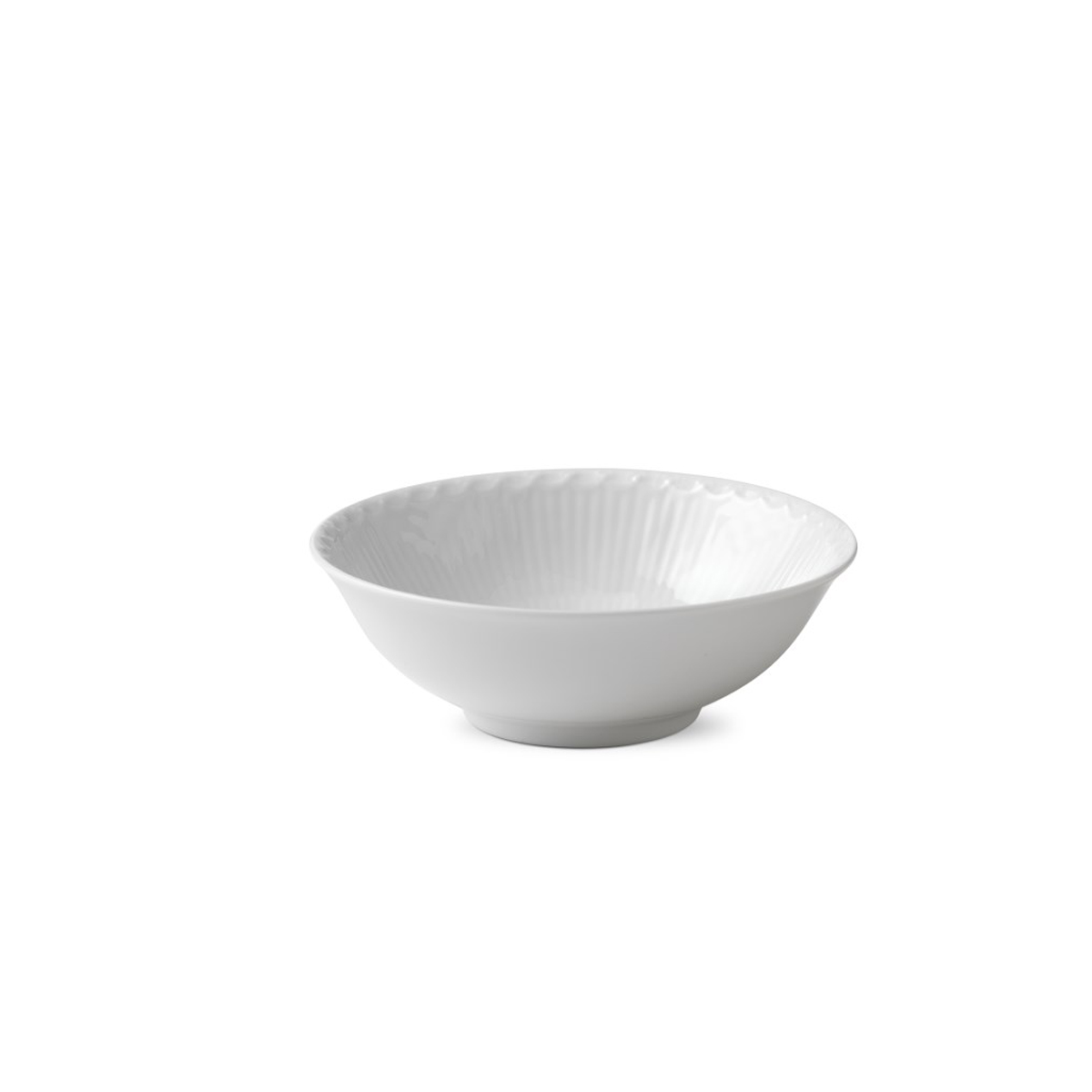 Royal Copenhagen, White Fluted Half Lace Cereal Bowl 11.75oz.