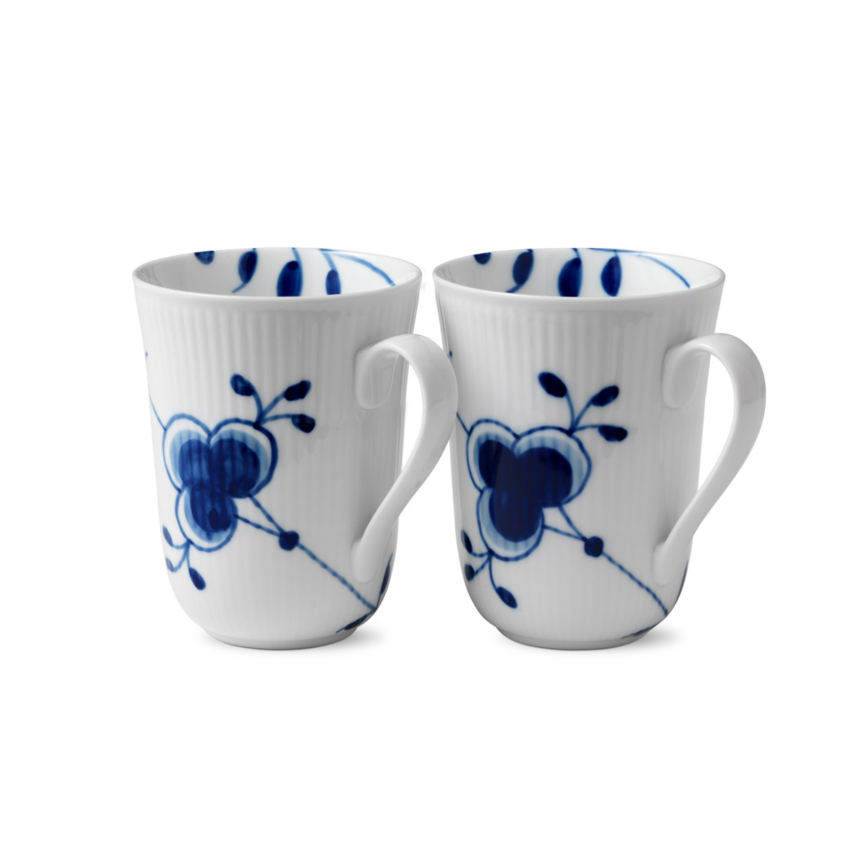 Royal Copenhagen, Blue Fluted Mega Mug 11oz. Pair