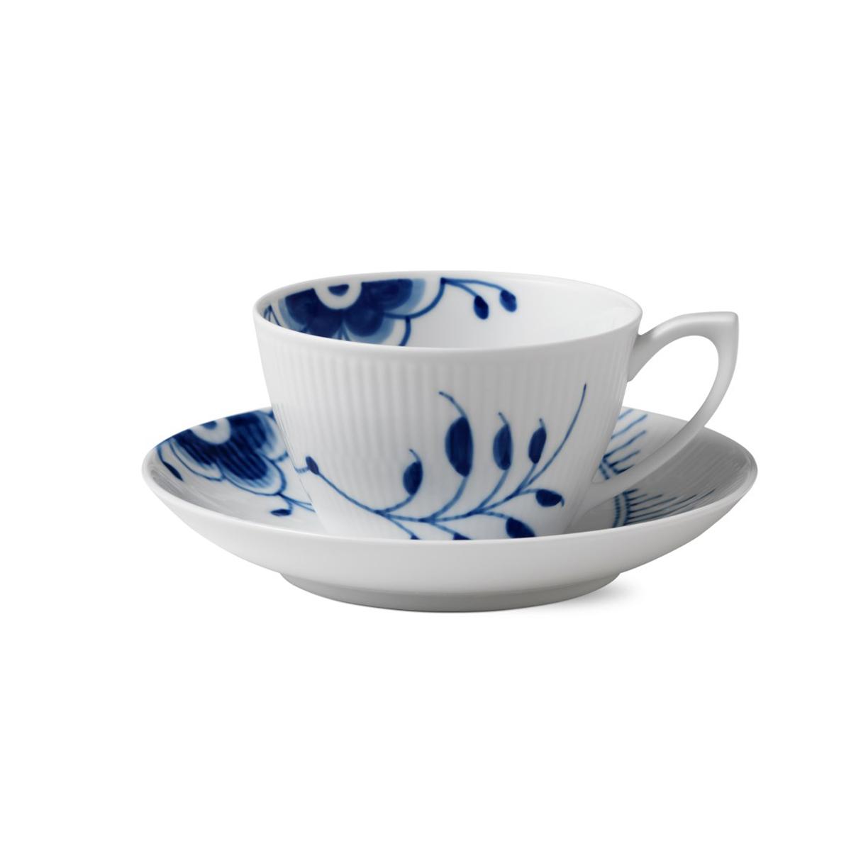 Royal Copenhagen, Blue Fluted Mega Tea Cup and Saucer 9.25oz.