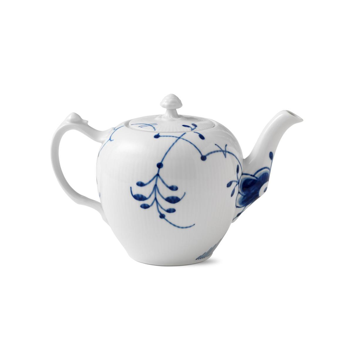 Royal Copenhagen, Blue Fluted Mega Tea Pot 1Qt