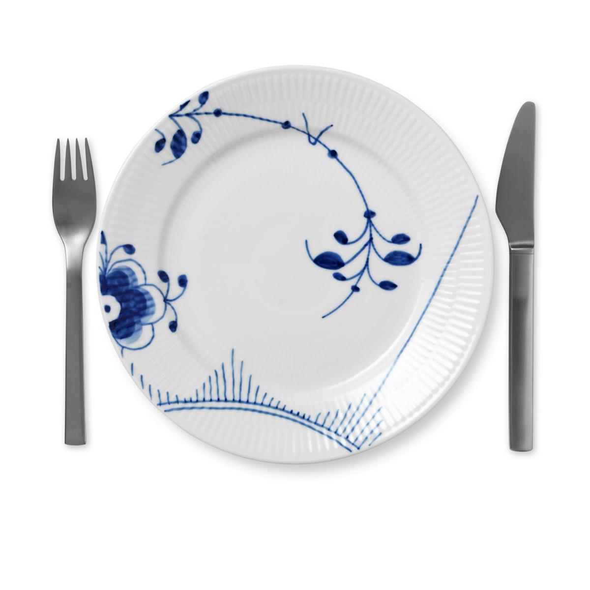 "Royal Copenhagen, Blue Fluted Mega Salad Plate #2 8.75"""