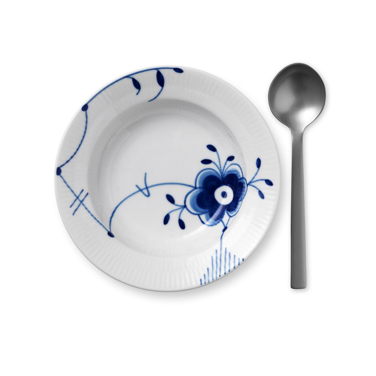 "Royal Copenhagen, Blue Fluted Mega Rim Soup Bowl #6 6.75"""