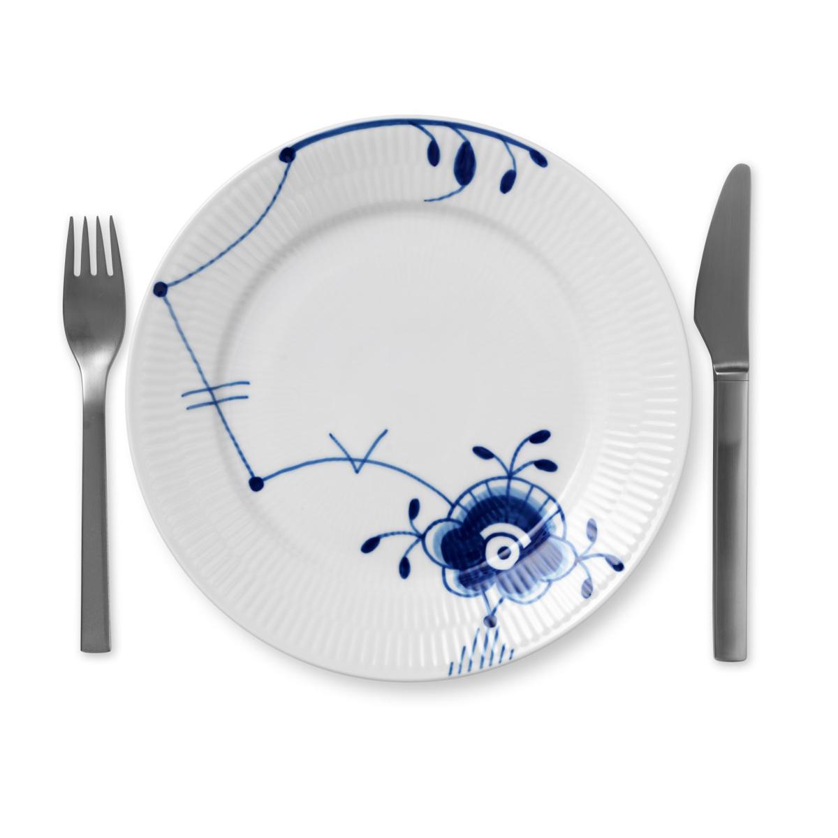 Royal Copenhagen, Blue Fluted Mega Salad Plate #6, Single