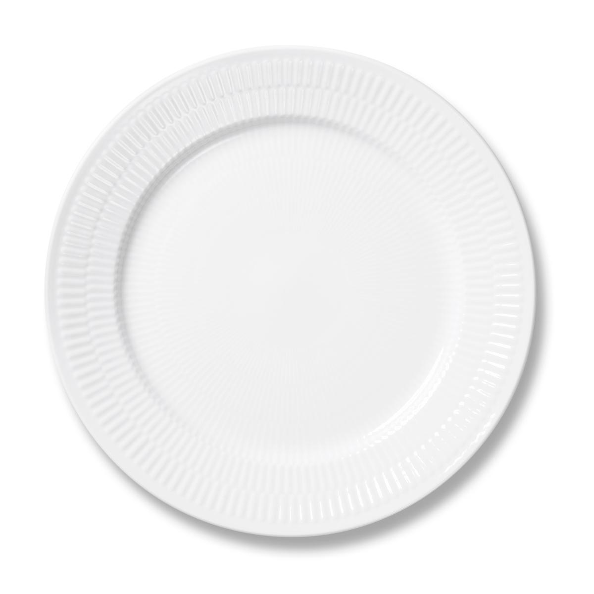 """Royal Copenhagen, White Fluted Dinner Plate 10.75"""""""