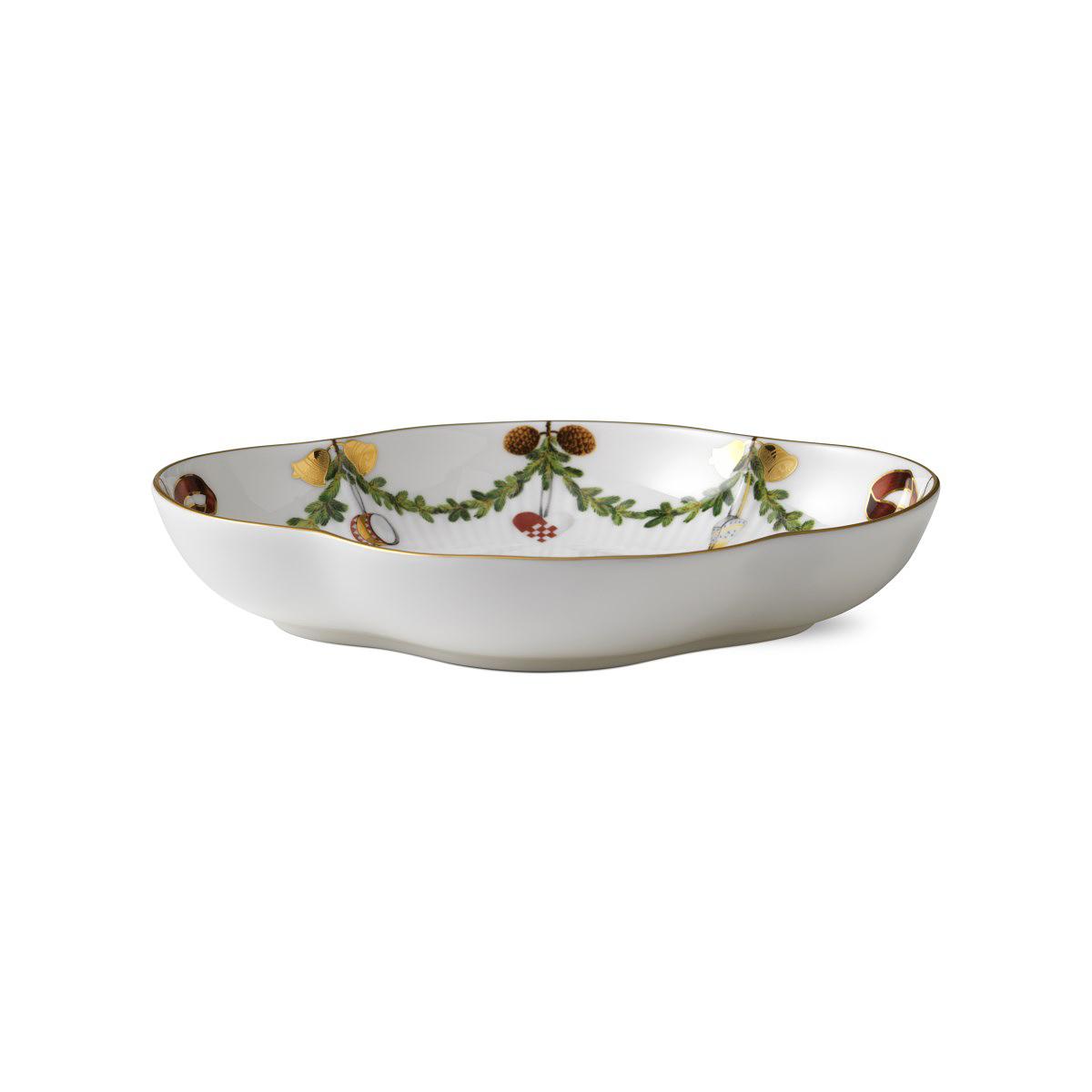 "Royal Copenhagen, Star Fluted Christmas Accent Dish 8.5"""