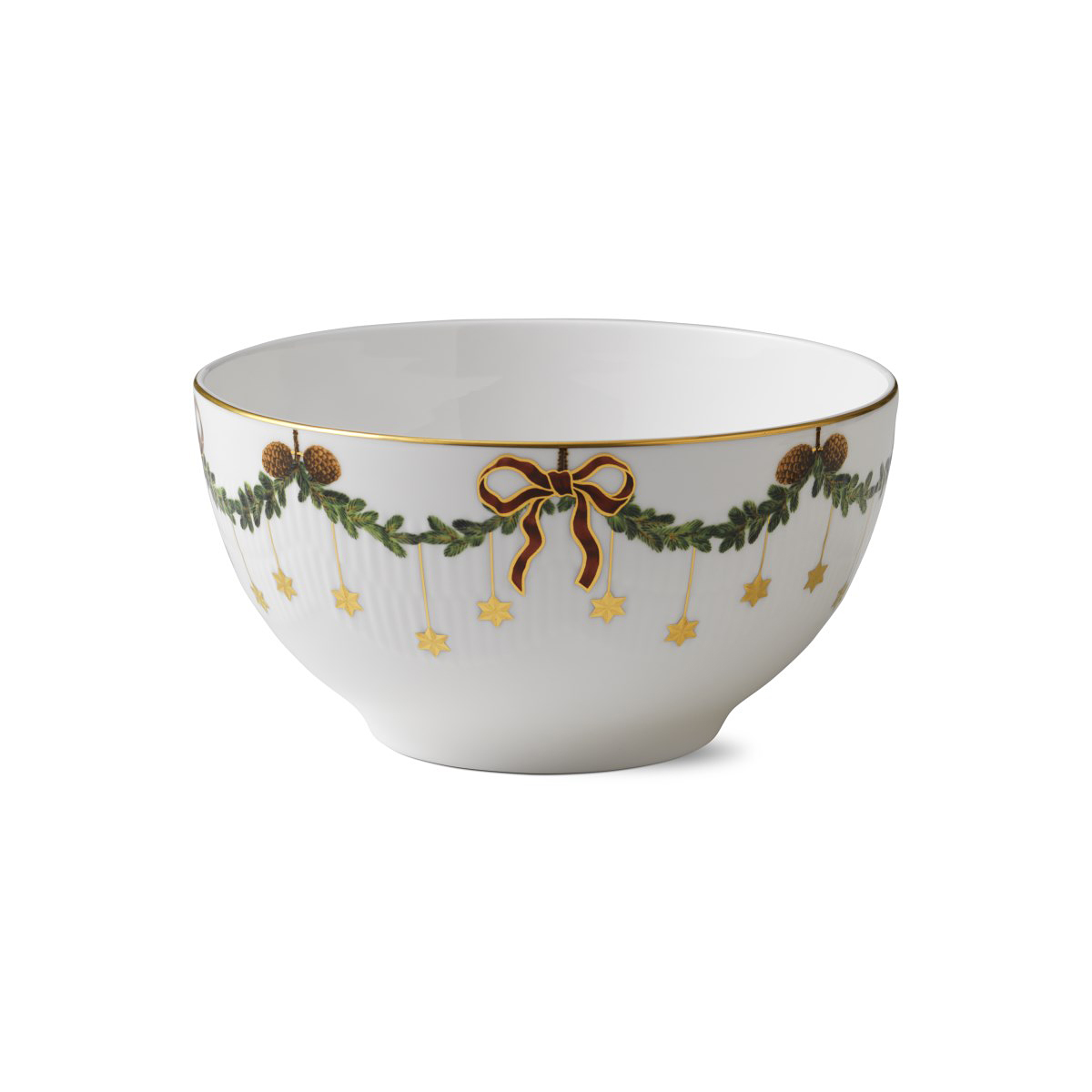 Royal Copenhagen, Star Fluted Christmas Bowl 1.75 Qt