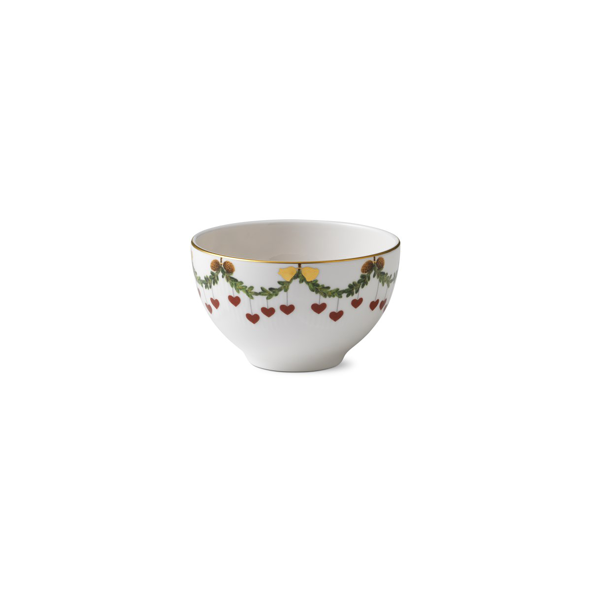 Royal Copenhagen, Star Fluted Christmas Chocolate Bowl 10oz.