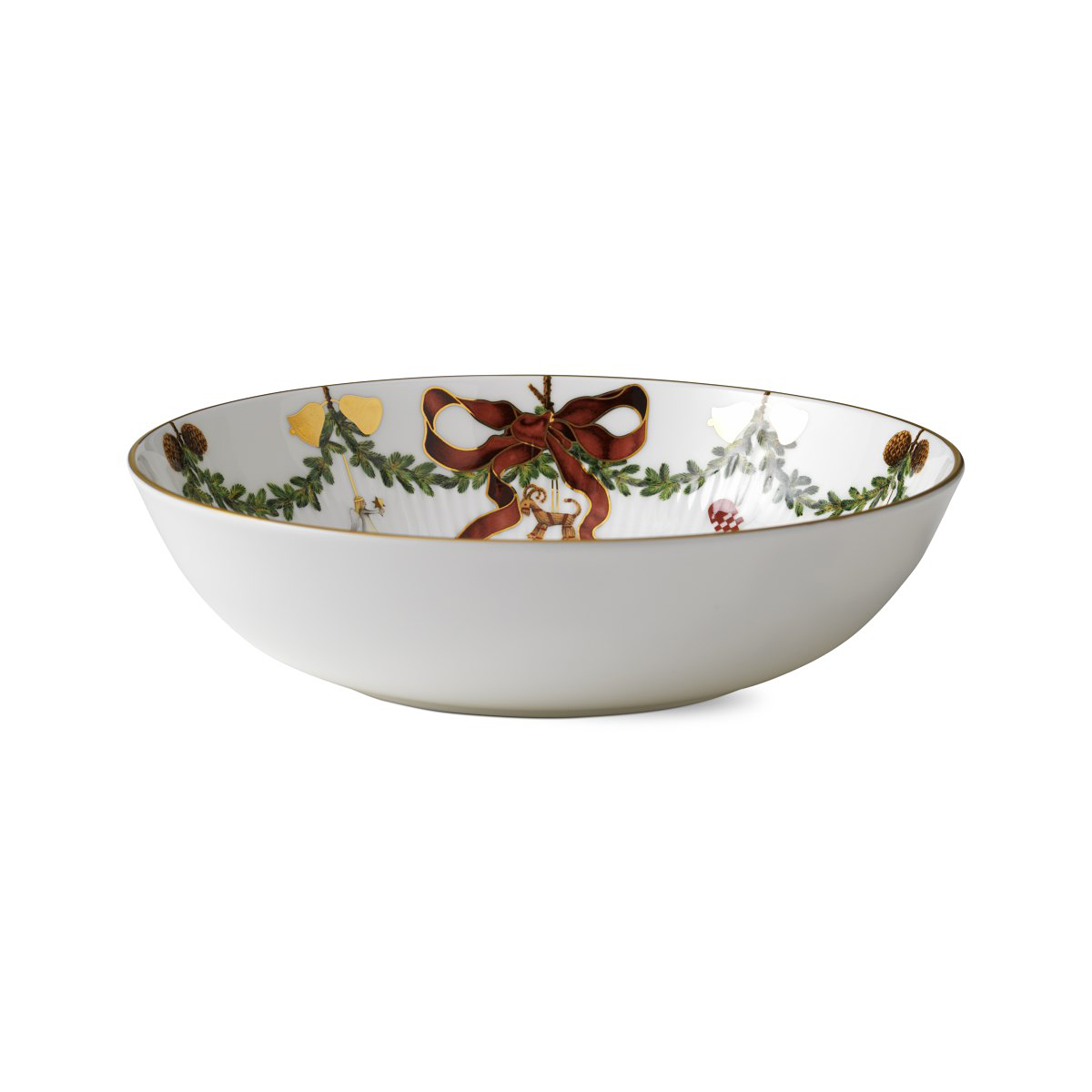 Royal Copenhagen, Star Fluted Christmas Bowl 3.25 Qt