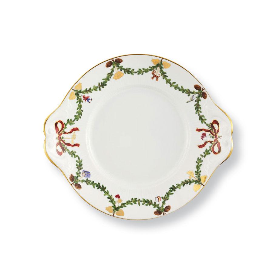 "Royal Copenhagen Star Fluted Christmas Dish 10.75"""