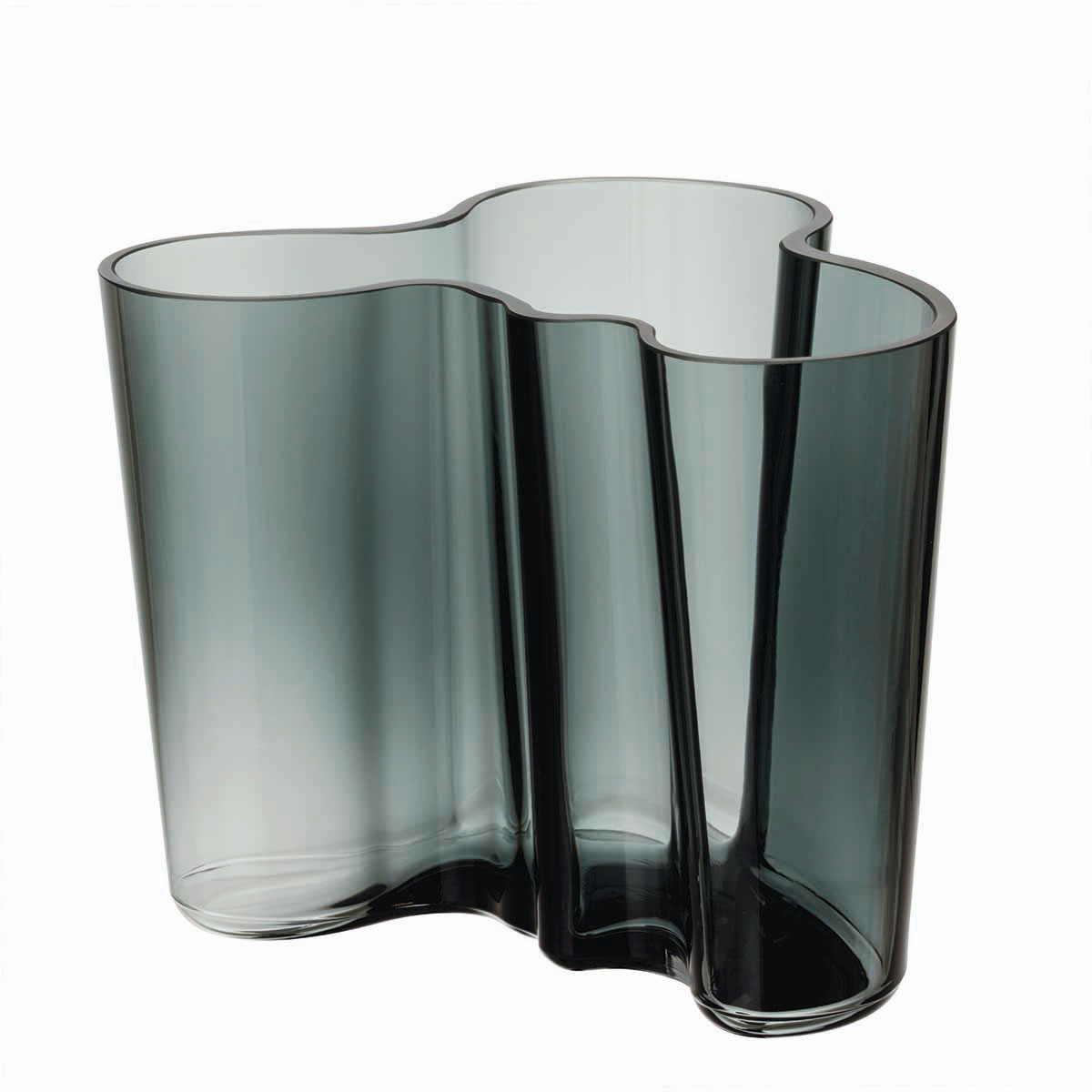 "Iittala Alvar Aalto 4 3/4"" Vase, Dark Grey"