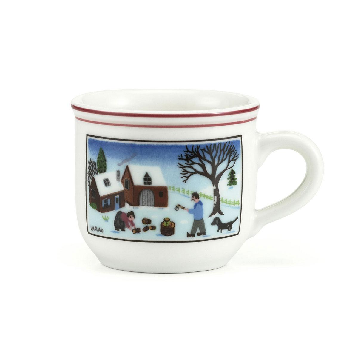 Villeroy and Boch Naif Christmas Espresso Cup | Crystal ...