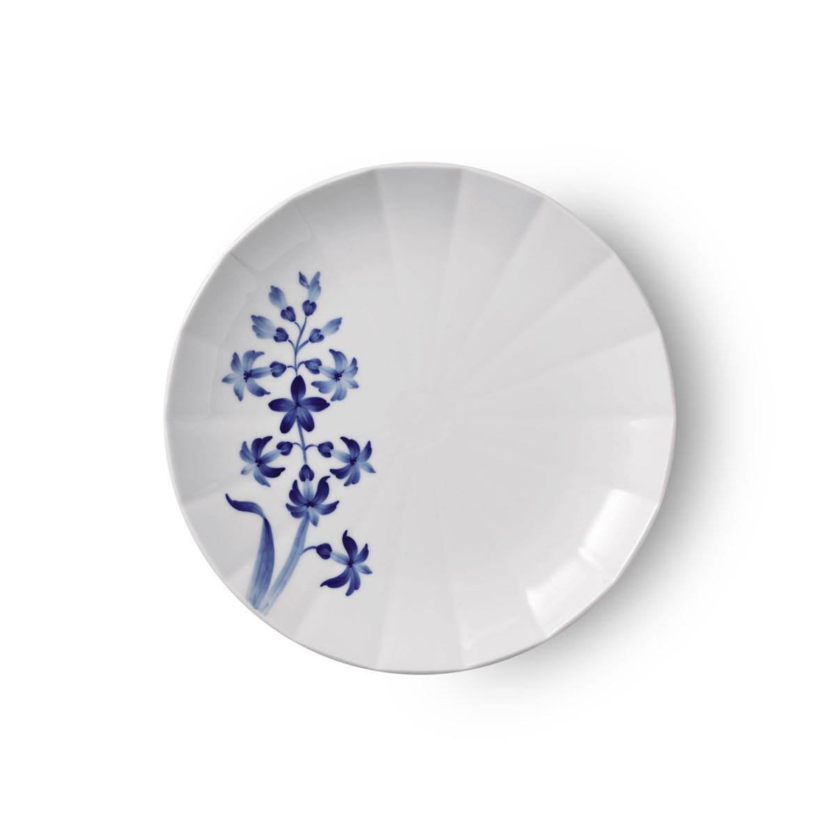 "Royal Copenhagen, Blomst Salad Plate Hyacinth 8.75"""