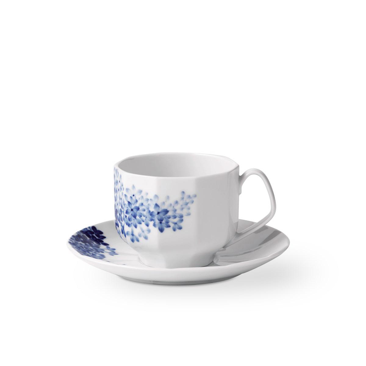 Royal Copenhagen, Blomst Teacup And Saucer Lilac