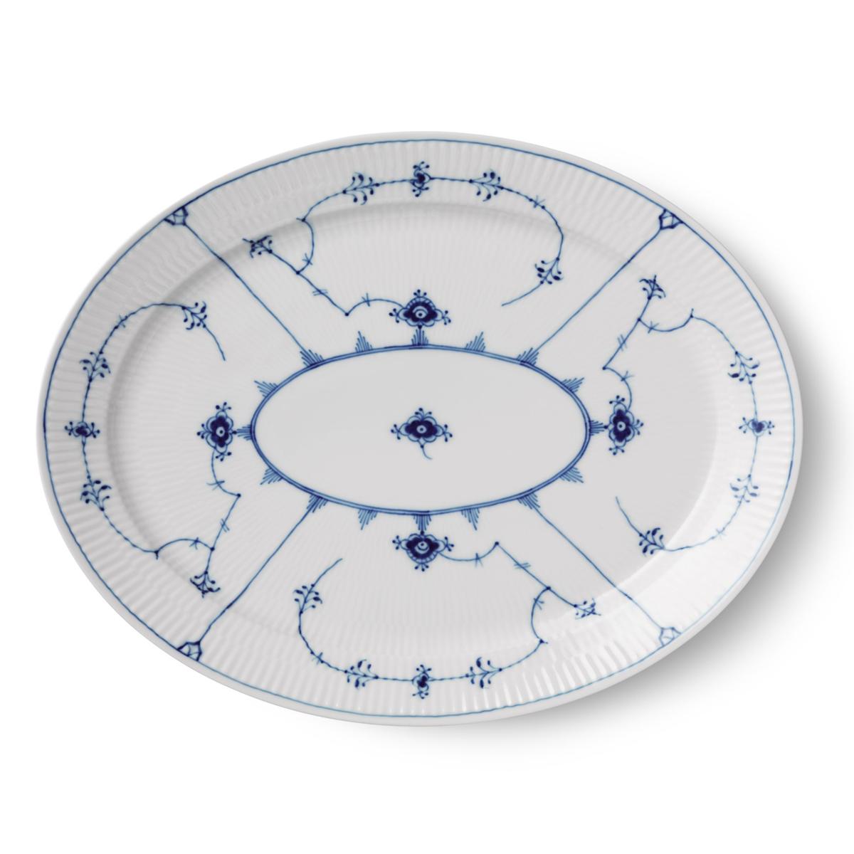 "Royal Copenhagen, Blue Fluted Plain Oval Platter 13.5"""