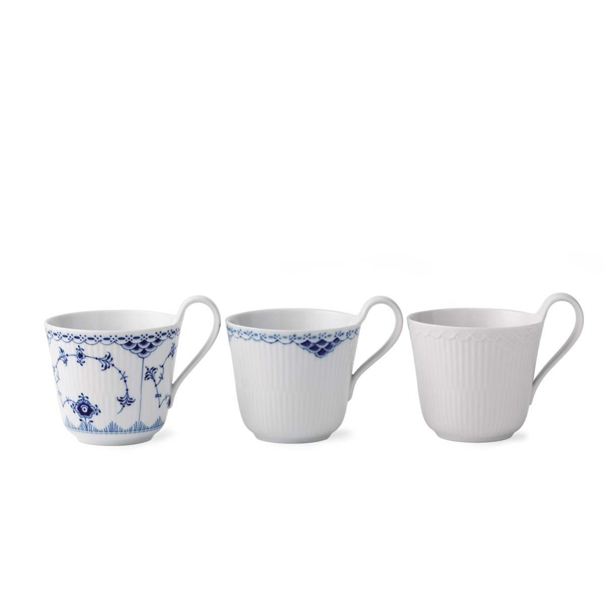 Royal Copenhagen, Gifts With History Laced Mugs 11oz. Set of Three