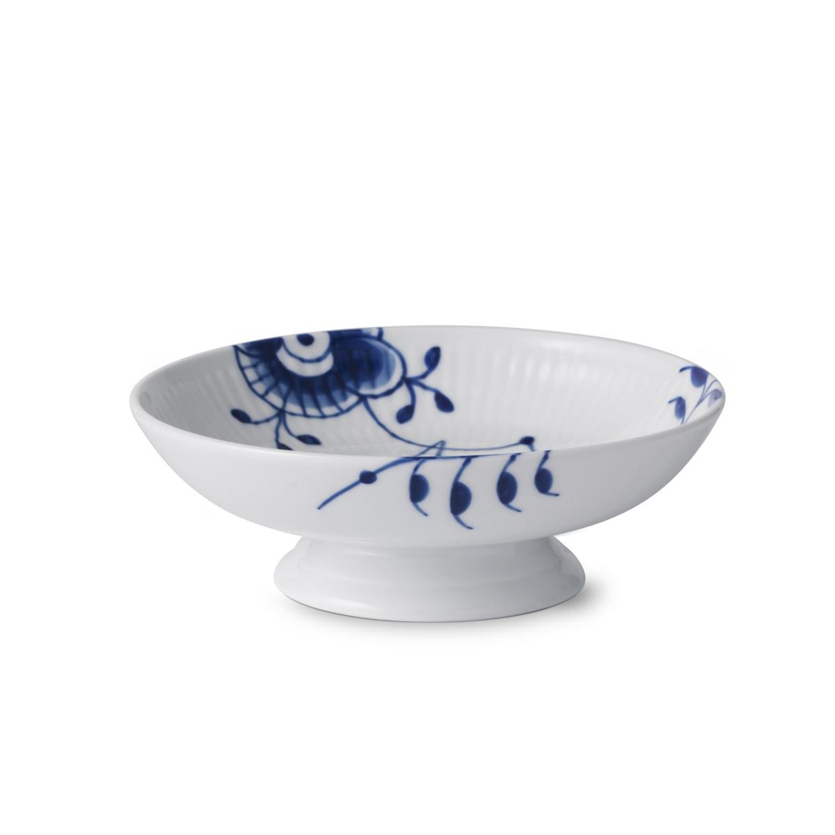 """Royal Copenhagen, Blue Fluted Mega Footed Bowl 6.75"""""""