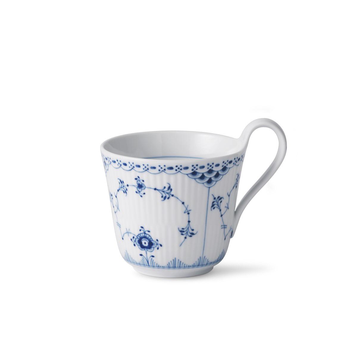 Royal Copenhagen, Blue Fluted Half Lace Hi Handle Mug 11oz.