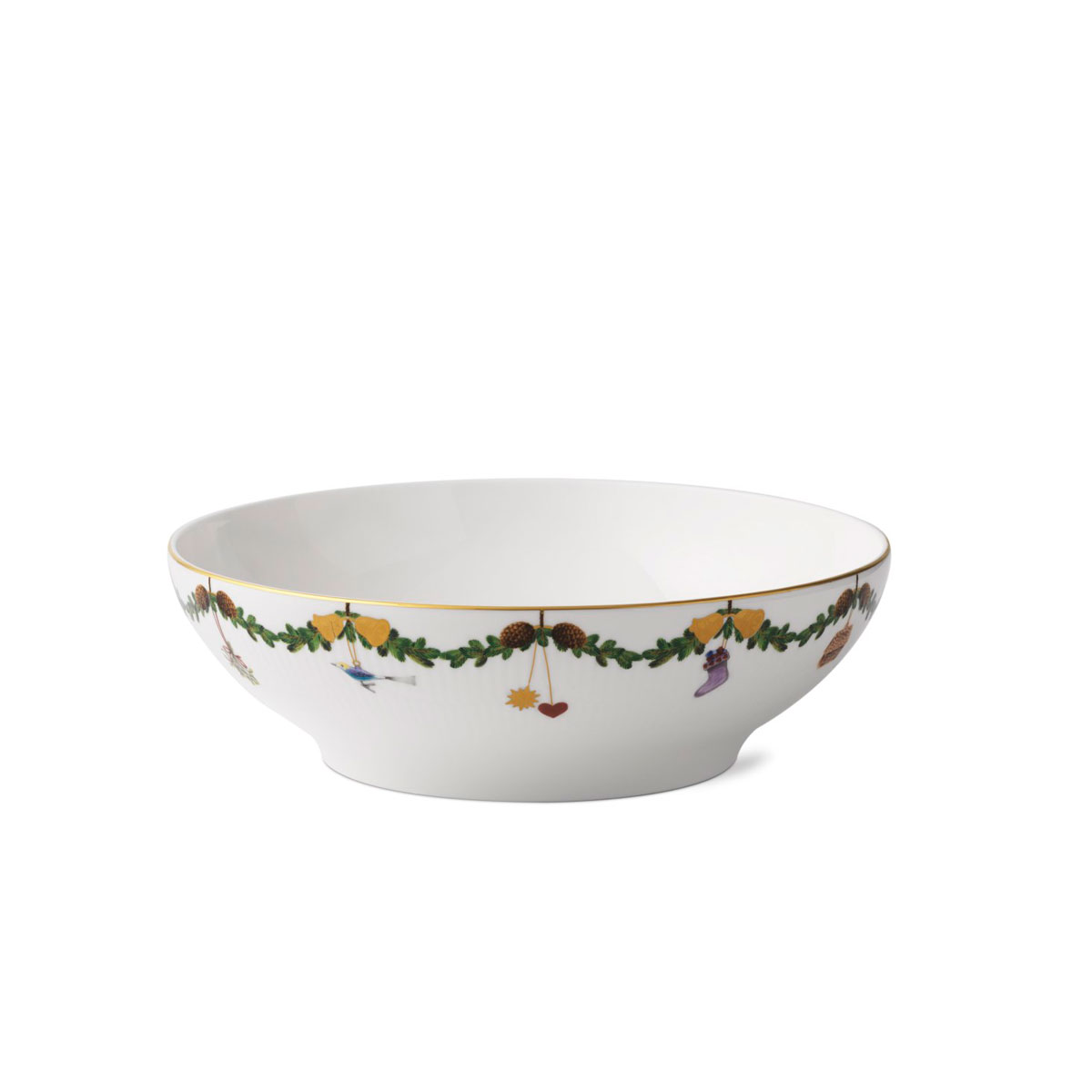 Royal Copenhagen, Star Fluted Serving Bowl