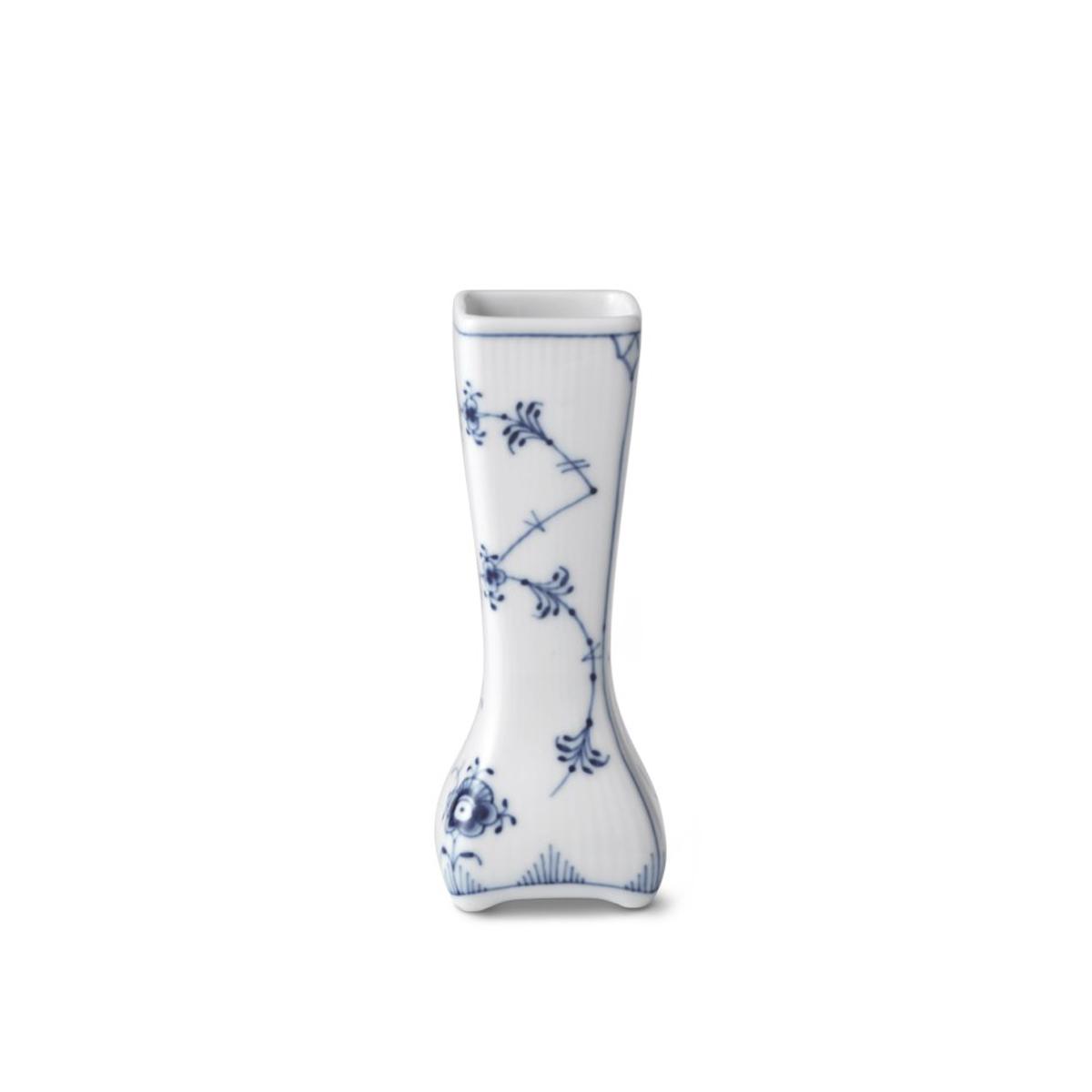 "Royal Copenhagen, Blue Fluted Plain Small Vintage Vase 4.75"""