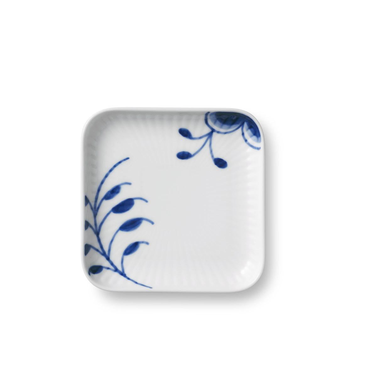 Royal Copenhagen, Blue Fluted Mega Small Square Plate