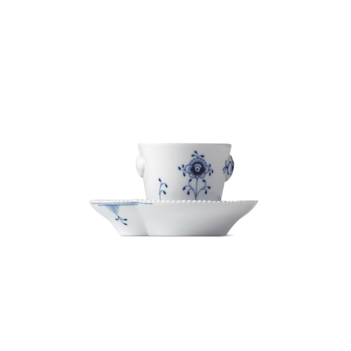 Royal Copenhagen, Blue Elements Espresso Cup and Saucer 3.25oz.