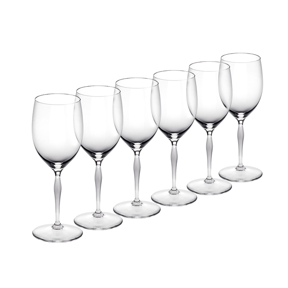 Lalique 100 Points Water Crystal Glasses By James Suckling, Set of six