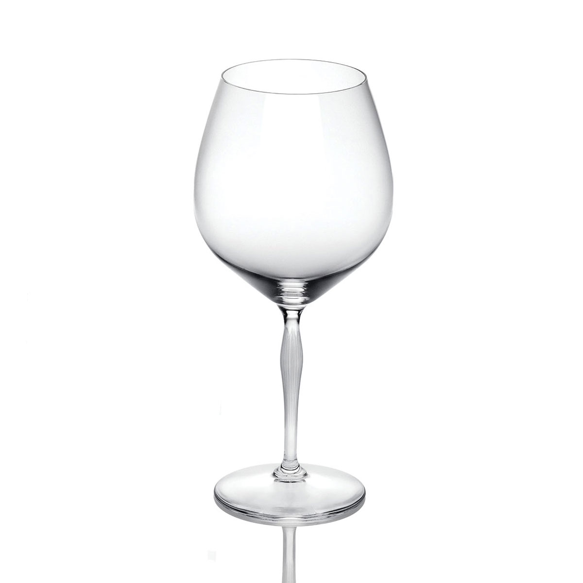 Lalique Crystal, 100 Points Burgundy Glass By James Suckling, Single