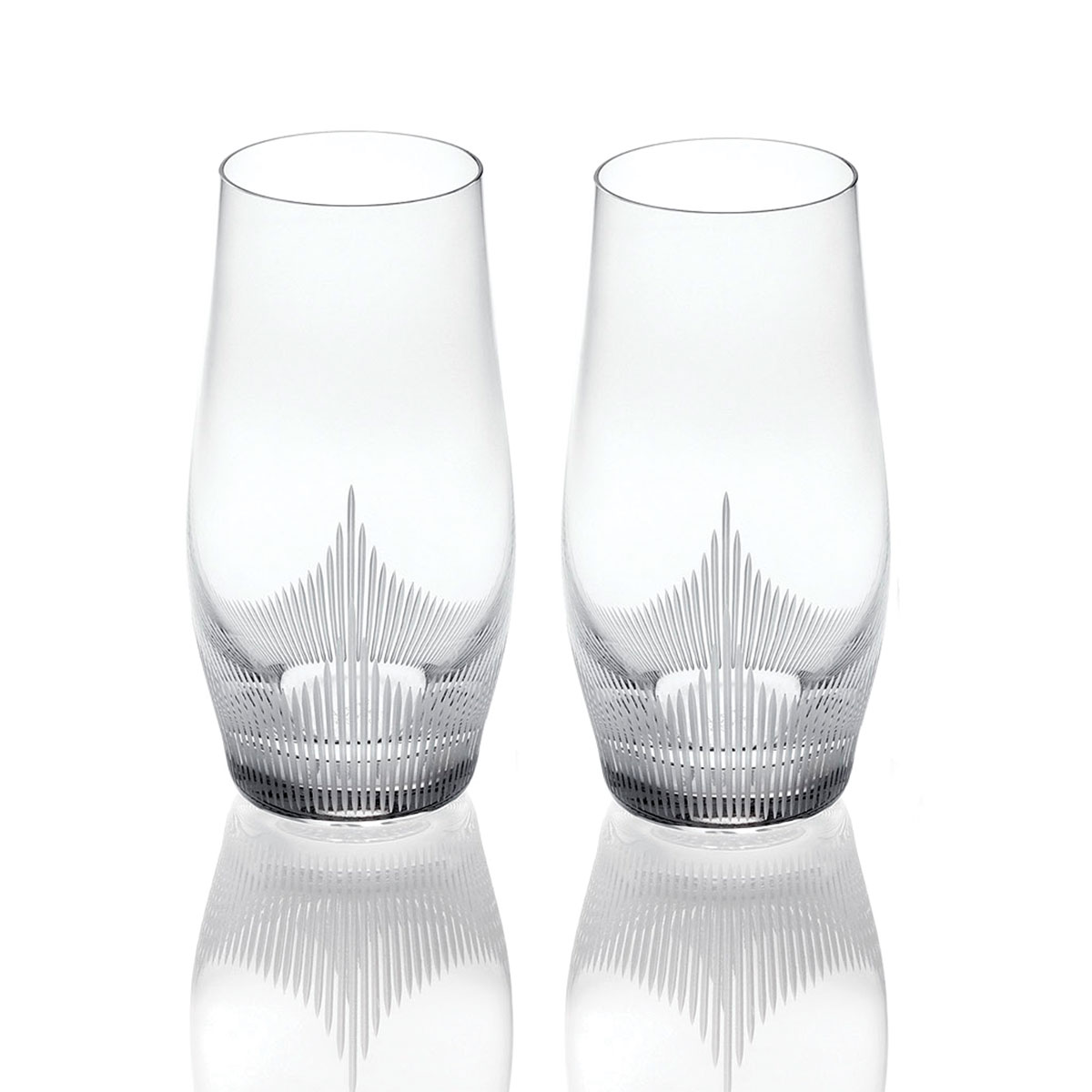 Lalique Crystal, 100 Points Longdrink Tumblers By James Suckling, Pair