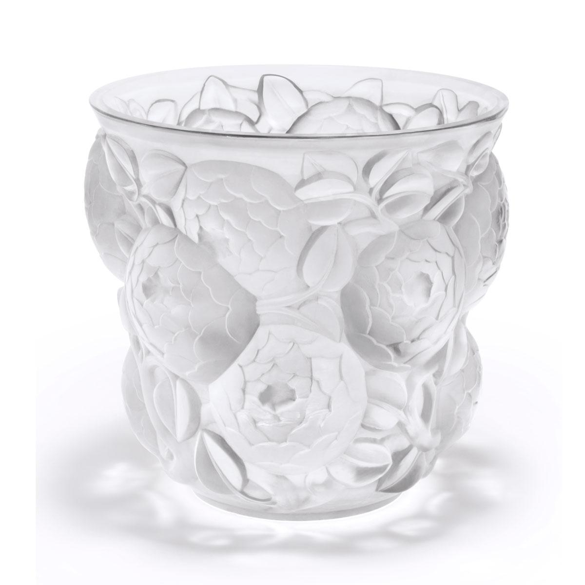 Lalique Crystal, Oran Crystal Vase, Numbered Edition
