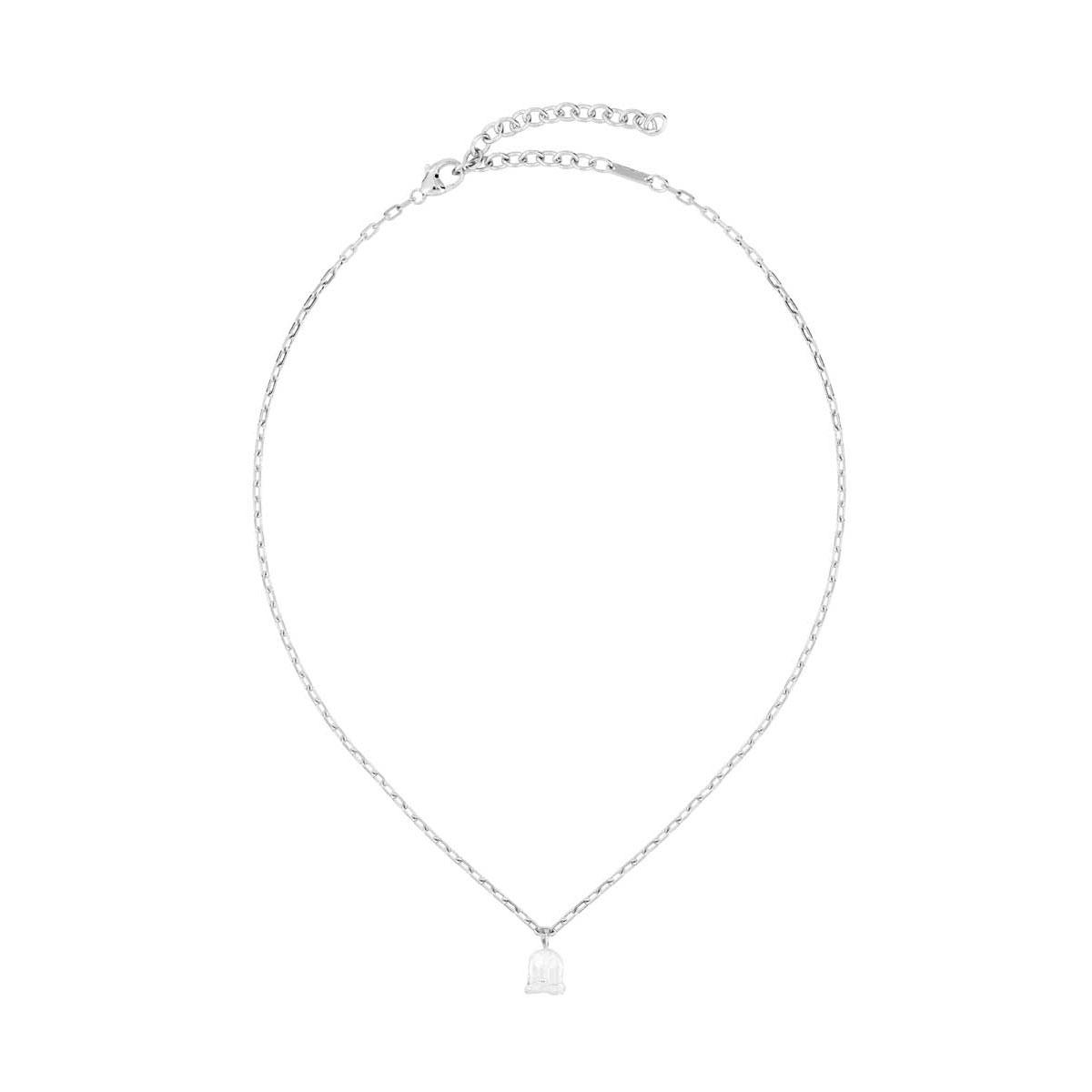 Lalique Crystal Muguet De Pendant Necklace, Silver