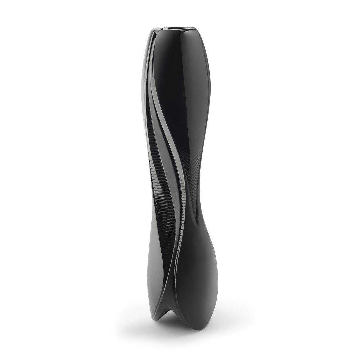 "Lalique Visio By Zaha Hadid 23"" Vase, Black"